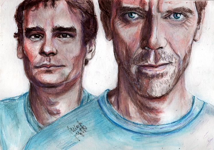 Hugh Laurie, Robert Sean Leonard por Toyscape